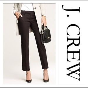 J. Crew Black Cafe Capri Pant Office Pants